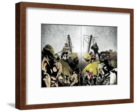 Zombies vs. Robots: Undercity - Page Spread-Mark Torres-Framed Art Print