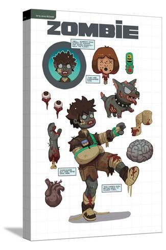 Zombies vs. Robots: No. 7 - Bonus Material-James McDonald-Stretched Canvas Print