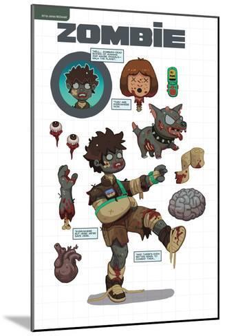 Zombies vs. Robots: No. 7 - Bonus Material-James McDonald-Mounted Art Print