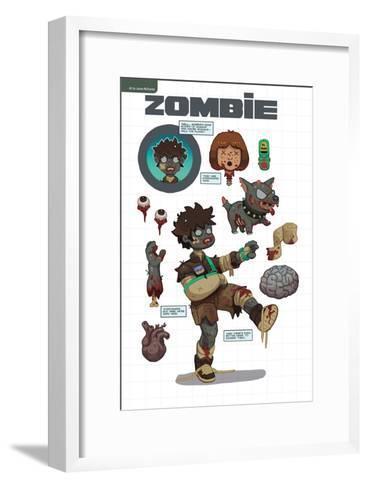 Zombies vs. Robots: No. 7 - Bonus Material-James McDonald-Framed Art Print