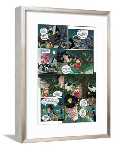 Zombies vs. Robots: No. 10 - Comic Page with Panels-Nico Pena-Framed Art Print