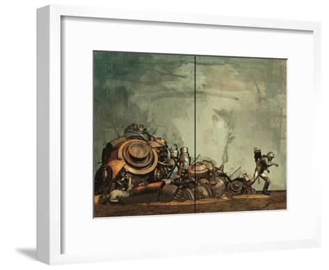 Zombies vs. Robots: Undercity - Page Spread-Fabio Listrani-Framed Art Print