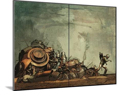 Zombies vs. Robots: Undercity - Page Spread-Fabio Listrani-Mounted Art Print