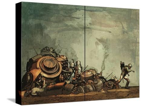 Zombies vs. Robots: Undercity - Page Spread-Fabio Listrani-Stretched Canvas Print