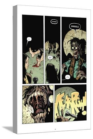 Zombies vs. Robots: No. 7 - Comic Page with Panels-Paul Davidson-Stretched Canvas Print