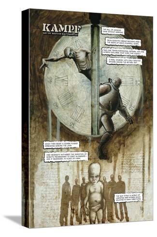 Zombies vs. Robots - Full-Page Art-Menton Matthews III-Stretched Canvas Print