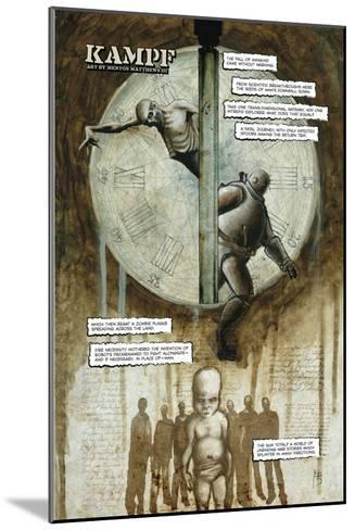 Zombies vs. Robots - Full-Page Art-Menton Matthews III-Mounted Art Print