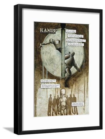 Zombies vs. Robots - Full-Page Art-Menton Matthews III-Framed Art Print