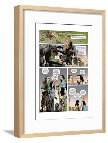 Zombies vs. Robots: No. 7 - Comic Page with Panels-Paul Davidson-Framed Art Print