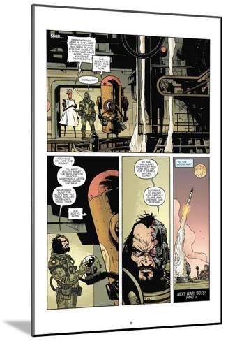 Zombies vs. Robots: No. 7 - Comic Page with Panels-Paul Davidson-Mounted Art Print