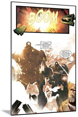 Zombies vs. Robots: Undercity - Comic Page with Panels-Mark Torres-Mounted Art Print