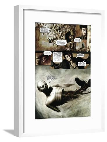 Zombies vs. Robots - Comic Page with Panels-Menton Matthews III-Framed Art Print