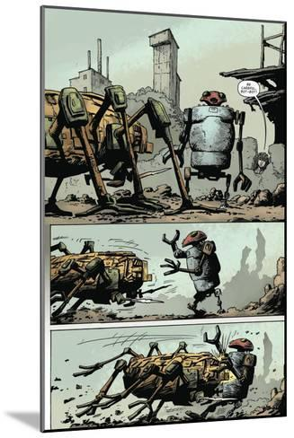 Zombies vs. Robots: Volume 1 - Comic Page with Panels-Val Mayerik-Mounted Art Print