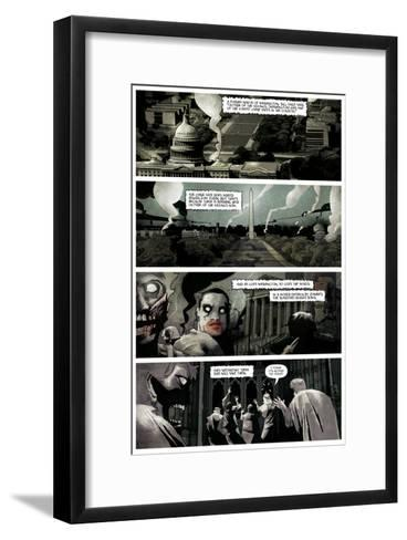 Zombies vs. Robots: Undercity - Comic Page with Panels-Mark Torres-Framed Art Print