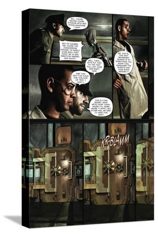Zombies vs. Robots - Comic Page with Panels-Menton Matthews III-Stretched Canvas Print