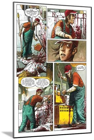 Zombies vs. Robots - Comic Page with Panels-Paul McCaffrey-Mounted Art Print
