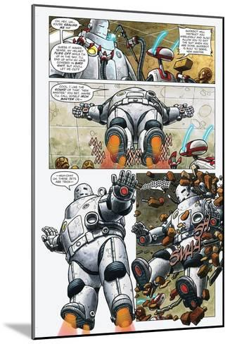 Zombies vs. Robots - Comic Page with Panels-Paul McCaffrey-Mounted Art Print