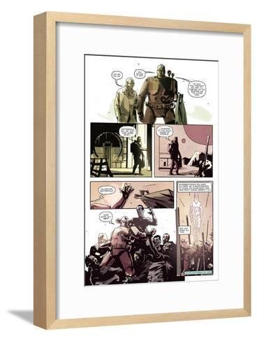 Zombies vs. Robots: No. 8 - Comic Page with Panels-Antonio Fuso-Framed Art Print