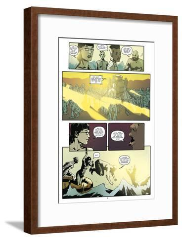 Zombies vs. Robots: No. 9 - Comic Page with Panels-Antonio Fuso-Framed Art Print