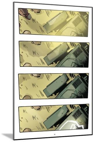 Zombies vs. Robots: No. 9 - Comic Page with Panels-Antonio Fuso-Mounted Art Print