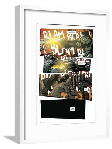 Zombies vs. Robots: No. 9 - Comic Page with Panels-Antonio Fuso-Framed Art Print