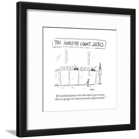 """""""If one political party or the other doesn't give in soon, there are going?"""" - Cartoon-David Sipress-Framed Art Print"""