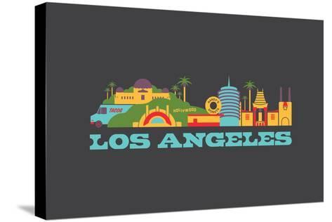 City Living Los Angeles Aspahlt--Stretched Canvas Print