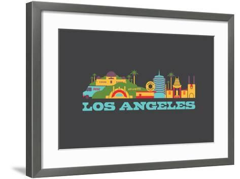 City Living Los Angeles Aspahlt--Framed Art Print