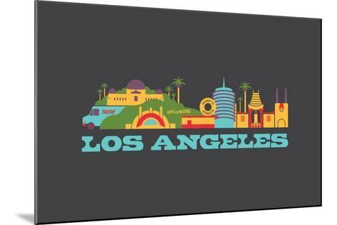 City Living Los Angeles Aspahlt--Mounted Art Print