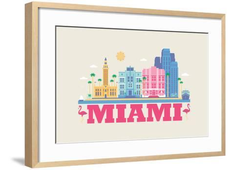 City Living Miami Natural--Framed Art Print
