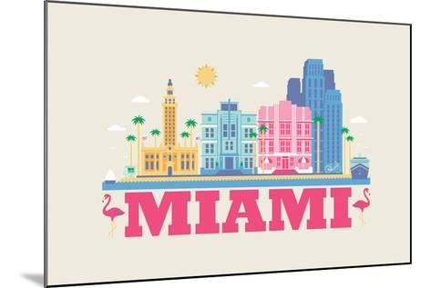 City Living Miami Natural--Mounted Art Print