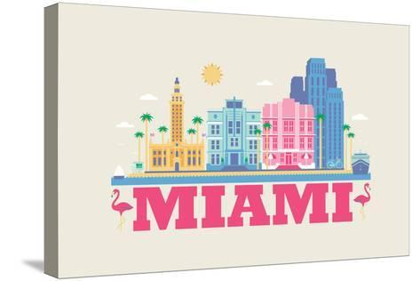 City Living Miami Natural--Stretched Canvas Print