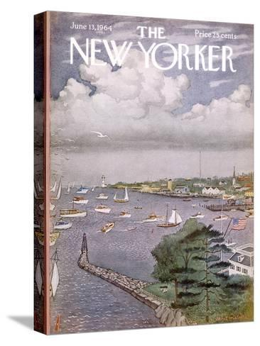 The New Yorker Cover - June 13, 1964-Albert Hubbell-Stretched Canvas Print