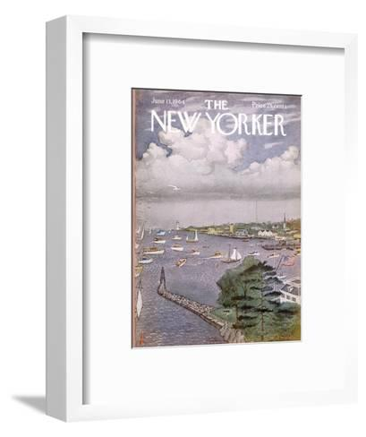 The New Yorker Cover - June 13, 1964-Albert Hubbell-Framed Art Print