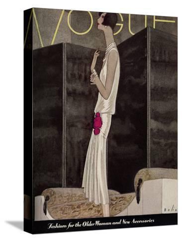 Vogue Cover - November 1928-William Bolin-Stretched Canvas Print