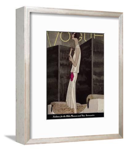 Vogue Cover - November 1928-William Bolin-Framed Art Print