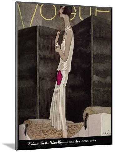 Vogue Cover - November 1928-William Bolin-Mounted Premium Giclee Print