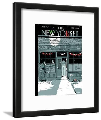`Tis the Season - The New Yorker Cover, December 9, 2013-Istvan Banyai-Framed Art Print