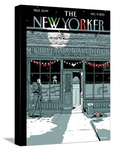 `Tis the Season - The New Yorker Cover, December 9, 2013-Istvan Banyai-Stretched Canvas Print
