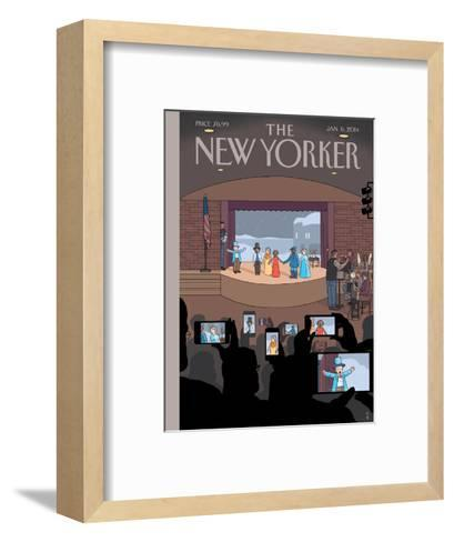 All Together Now - The New Yorker Cover, January 6, 2014-Chris Ware-Framed Art Print