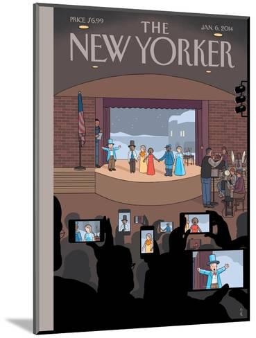 All Together Now - The New Yorker Cover, January 6, 2014-Chris Ware-Mounted Premium Giclee Print