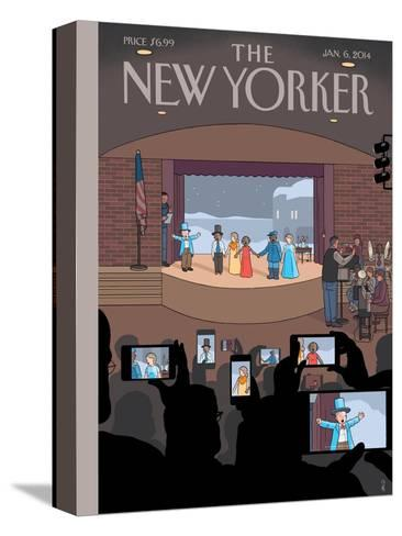 All Together Now - The New Yorker Cover, January 6, 2014-Chris Ware-Stretched Canvas Print