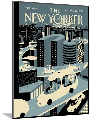 Asleep at the Wheel - The New Yorker Cover, November 25, 2013-Frank Viva-Mounted Premium Giclee Print