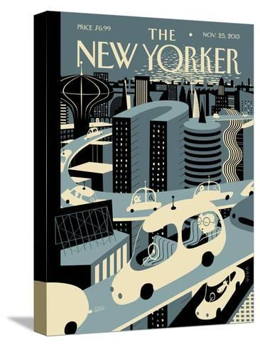Asleep at the Wheel - The New Yorker Cover, November 25, 2013-Frank Viva-Stretched Canvas Print