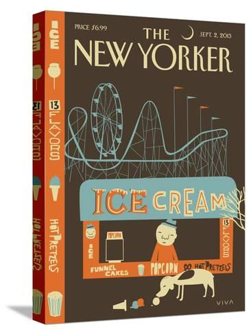 13 Flavors - The New Yorker Cover, September 2, 2013-Frank Viva-Stretched Canvas Print