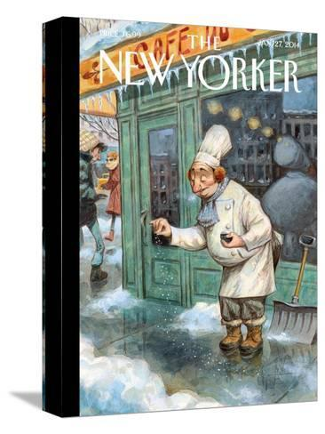 Just a Pinch - The New Yorker Cover, January 27, 2014-Peter de S?ve-Stretched Canvas Print