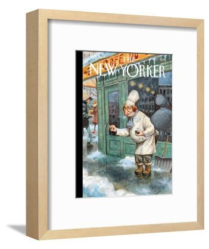 Just a Pinch - The New Yorker Cover, January 27, 2014-Peter de S?ve-Framed Art Print