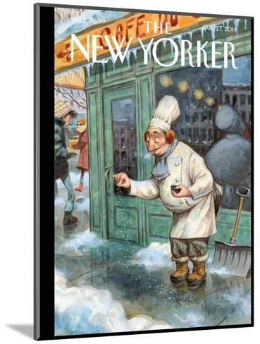 Just a Pinch - The New Yorker Cover, January 27, 2014-Peter de S?ve-Mounted Premium Giclee Print