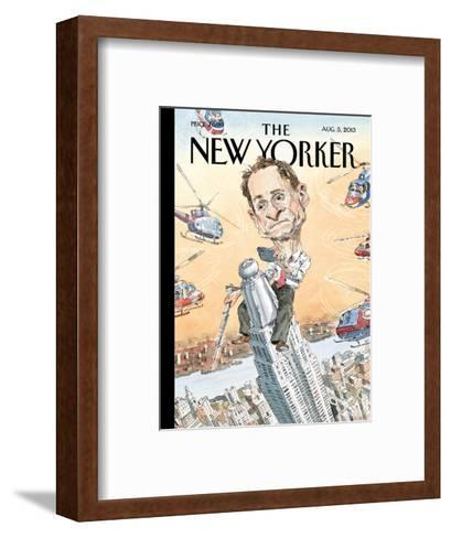 Carlos Danger - The New Yorker Cover, August 5, 2013-John Cuneo-Framed Art Print