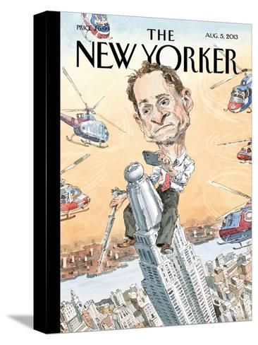 Carlos Danger - The New Yorker Cover, August 5, 2013-John Cuneo-Stretched Canvas Print